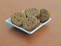 Cookie sandwiches Stock Images