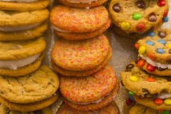 Cookie Sandwiches Royalty Free Stock Images