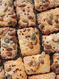 Cookie with seeds Royalty Free Stock Images