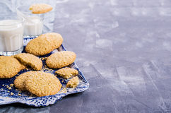 Cookie with sesame seeds royalty free stock images
