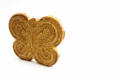 Cookie in the shape of a butterfly Royalty Free Stock Image
