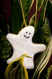 Cookie in shape of a ghost Stock Image