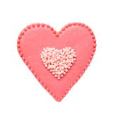 Cookie in shape of heart. Royalty Free Stock Images