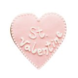 Cookie in shape of heart Royalty Free Stock Photos