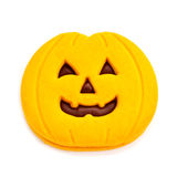 Cookie in the shape of a jack-o-lantern Stock Photography