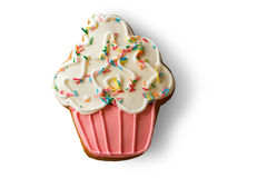 Cookie shaped as cupcake. Stock Image