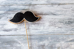 Cookie shaped as moustache. Royalty Free Stock Images