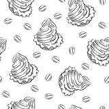 Cookie siamless pattern. Royalty Free Stock Photo