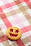 Cookie smile on a table Stock Photo