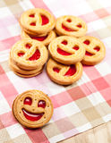 Cookie smile on a table Stock Photos