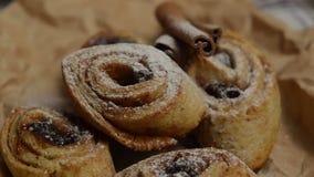 Cookie sprinkle with powdered sugar stock footage