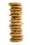 Cookie Stack. Large stack of chocolate chip cookies Stock Photo