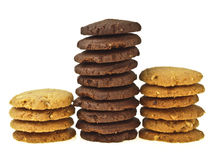 Cookie Stack Compare Royalty Free Stock Images