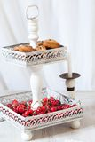 Cookie Stand With Cherries Stock Image