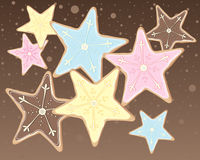 Cookie stars Stock Image