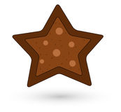 Cookie Style Christmas Star Stock Photography