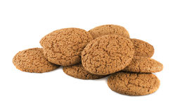 Cookie with sugar. Oats cookie with sugar in closeup stock photos