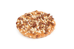 Cookie with sunflower and sesame seeds Royalty Free Stock Photo