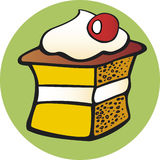 Cookie sweet. Illustration of taste sweet cookie cake Stock Photos