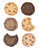 Cookie symbols Royalty Free Stock Photography