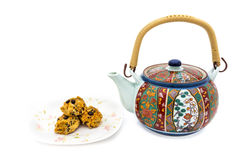 Cookie and Teapot Stock Image
