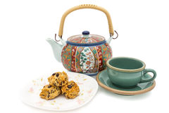 Cookie and Teapot Stock Images