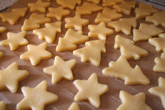 Cookie. There will be baked into the Christmas cookies Royalty Free Stock Image