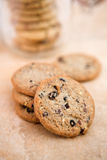 Cookie time!. Freshly made oven baked Blueberry & Oat cookies - shallow dof Stock Images
