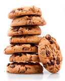 Cookie Tower. Isolated on white background Royalty Free Stock Photography