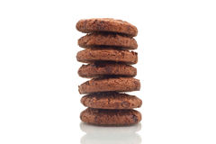 Cookie Tower, Stack up  on white Royalty Free Stock Images