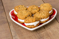 Cookie tray with filled cookies Stock Image