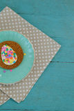 Cookie with various confectioneries in plate Royalty Free Stock Photos