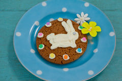 Cookie with various confectioneries in plate Stock Photos