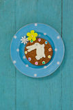 Cookie with various confectioneries in plate Royalty Free Stock Photo