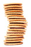 Cookie. On a white background Stock Photography