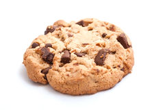 Cookie on white background. Closeup of cookie on white background Royalty Free Stock Images