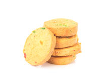 Cookie on white background, food and drink concept Royalty Free Stock Image