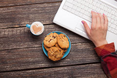 Cookie and women hand Stock Image