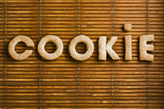 Cookie Word with Homemade Biscuits Letters Stock Image
