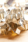 Cookie xmas cutter Stock Images