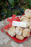 Cookies. Delicious white chocolate cookies for Santa on Christmas eve stock image