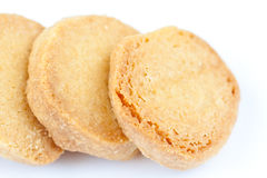 Cookies. The three isolated vanilla cookies Royalty Free Stock Images