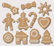 Christmas cookies. Vector set. royalty free illustration