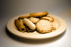 Cookies. A plateful of cookies Stock Images