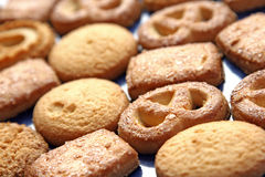 Cookies. Close up of a fresh breakfast cookies biscuits Royalty Free Stock Photography
