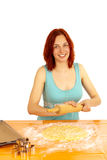 Cookies. A young woman bakes cookies Stock Photo