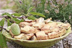 Cookies. Traditional recipe of cookies with almonds Stock Images