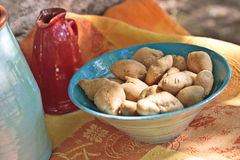 Cookies. Traditional recipe of cookies with almonds Royalty Free Stock Images