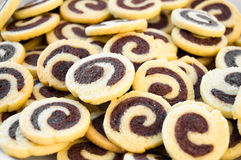 Cookies. Some sweet cookies with chocolate royalty free stock photos