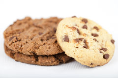 Cookies. Chocolate cookies as an isolated image Stock Photography